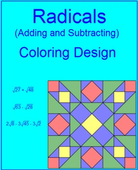 Radicals - Adding and Subtracting Coloring Activity