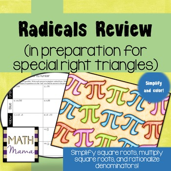 Radicals Review (in prep. for special right triangles) Cal