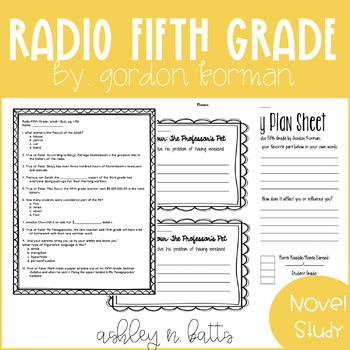 Radio Fifth Grade Novel Study
