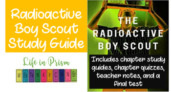 Radioactive Boy Scout Worksheets and Quizzes (Book Study Guide)