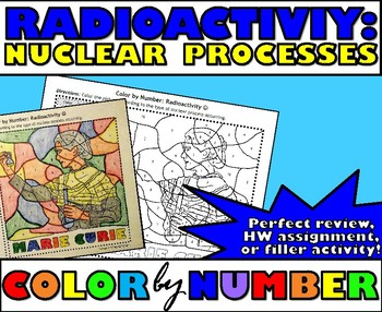 Radioactivity - Nuclear Processes - Color By Number