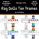 Rag Dolls Ten Frames Clip Art