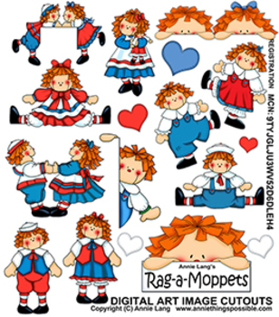 Rag-a-Moppets Clipart