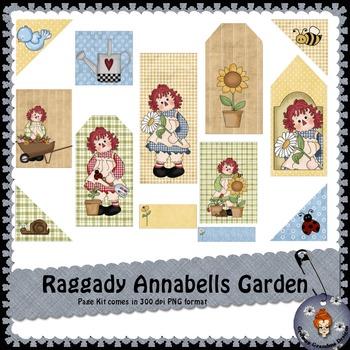 Raggady Annebells Garden Page Kit