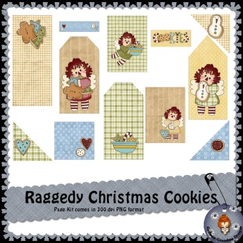 Raggedy Christmas Cookies page kit