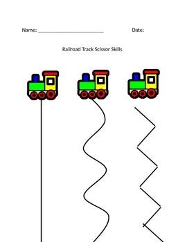 Railroad Track Scissor Skills