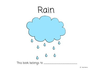 Rain- Emergent/Early Reader- Weather Content Study