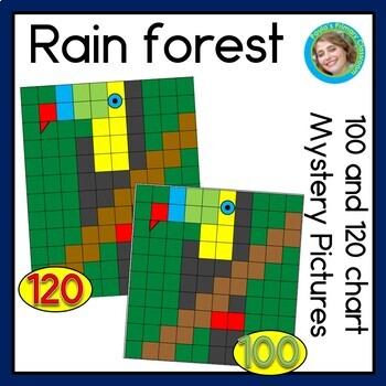 Rain Forest 100 AND 120 Chart Mystery Pictures Bundle
