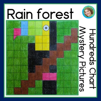 Rain Forest 100 Chart Mystery Pictures