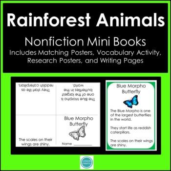 Rain Forest Animals Non Fiction Mini Books