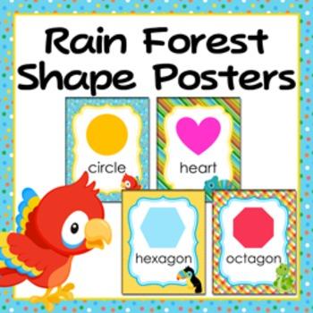 Rain Forest Theme Shape Posters