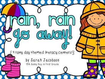 Rain, Rain Go Away {4 rainy day themed literacy centers!}
