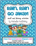 Rain Rain Go Away {Math and Literacy Activities}