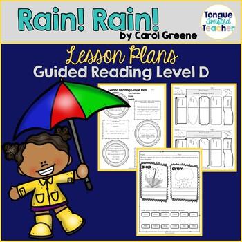 Rain! Rain! by Carol Greene Guided Reading Lesson Plan, Level D