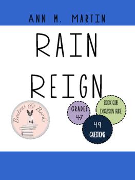 Rain Reign by Ann M. Martin Book Club Discussion Guide