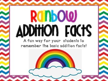 Rainbow Addition Facts