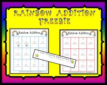 Rainbow Addition Freebie