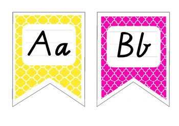 Rainbow Alphabet Display