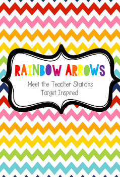 Rainbow Arrows Meet the Teacher Stations (Target Inspired)