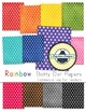 Rainbow Background Papers for Commercial Use {Dotty Dots}
