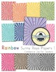 Rainbow Background Papers for Commercial Use {Sunny Rays 1}