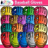 Rainbow Baseball Gloves Clip Art {Sports Equipment for Phy
