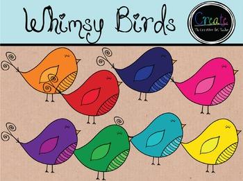 Whimsy Birds - Digital Clipart