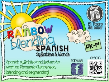 Rainbow Blending - Spanish Syllables & Words - Conciencia