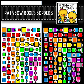 Rainbow Boxes Borders