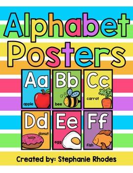 Rainbow Bright Alphabet Posters