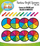 Rainbow Bright Spinners Clipart Mega Set — Over 40 Graphics!
