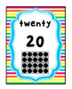 Rainbow Bright Stripes, Number Posters and Cards: 0-20, Ev