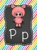 Rainbow Brights Alphabet Line with Chalkboard Backgrounds