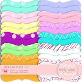 Rainbow Brights - Backgrounds for Hand Drawn Frames