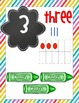 Rainbow Brights Number Cards with tallies, pictures, ten f