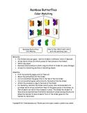 Rainbow Butterflies - Color Matching Folder Game