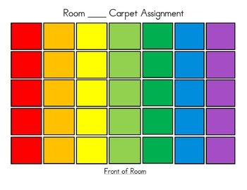 Rainbow Carpet Seating Chart