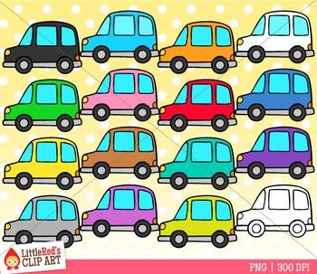 Rainbow Cars Clip Art