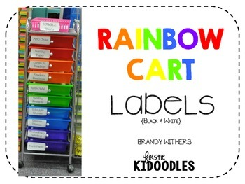 Rainbow Cart Labels {Black}