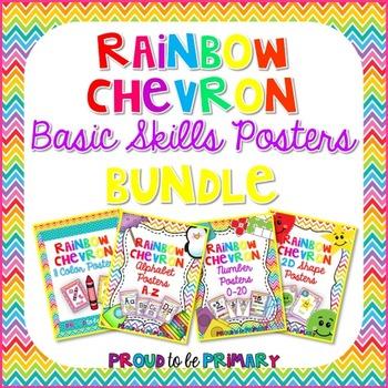 Rainbow Chevron Poster BUNDLE