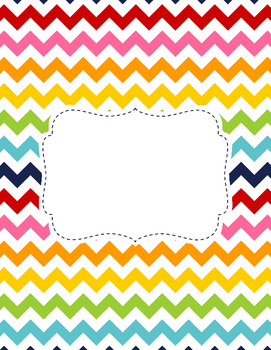 Rainbow Chevron Binder Cover
