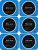 Rainbow Chevron Classroom Library Labels {Editable!}