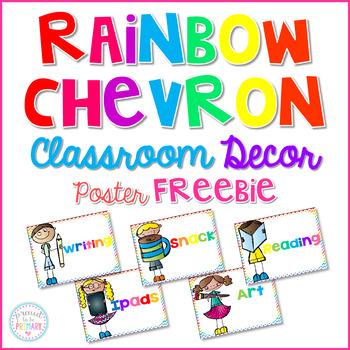 Rainbow Chevron Posters