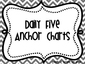 Rainbow Chevron Daily 5 Anchor Charts