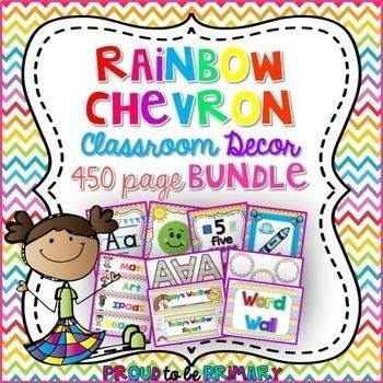Rainbow Chevron Decor BUNDLE