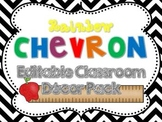 Rainbow Chevron Decor Pack {Editable}