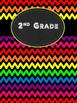 Rainbow Chevron Grade Level Binder