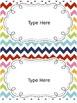 Rainbow Chevron Label Pack {Cute, Colorful, EDITABLE!}