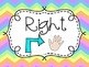 Rainbow Chevron Left and Right Posters