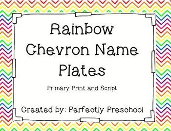 Rainbow Chevron Name Plates